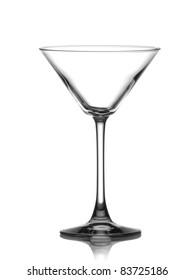 Empty glass of martini