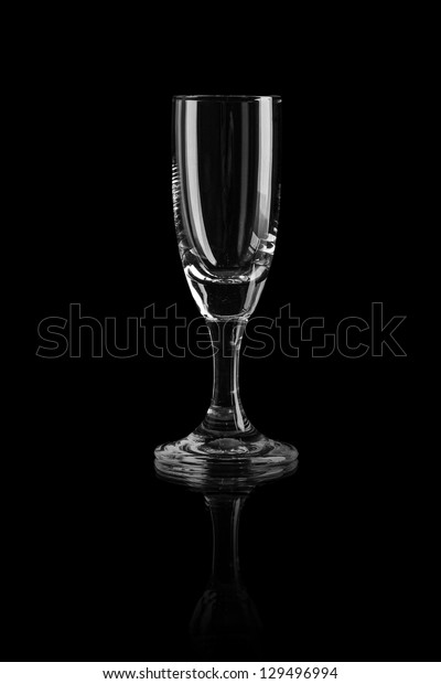 Empty glass on a black background