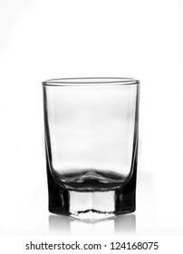 Empty glass on white background.