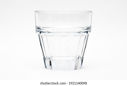 Empty glass on a white background