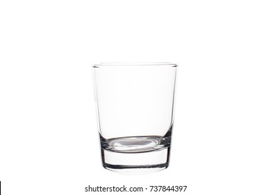 Empty glass on a white background. Isolated.