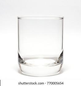 Empty glass on white blackground