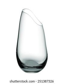 Empty glass vase