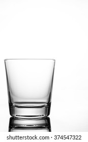 Empty glass of water isolated on white background.