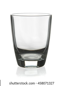 Empty glass for water on white background