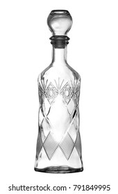 empty glass wine decanter