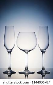 Empty glasses background