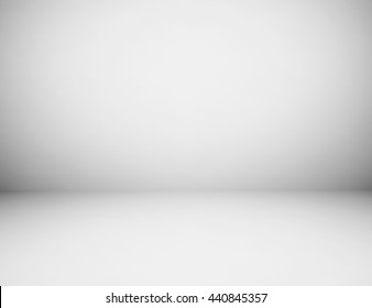 Empty gray studio room background, Use as montage for product display.