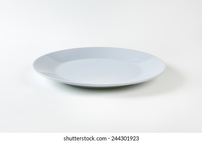 empty grey plate on white background