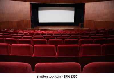 Empty hall of cinema