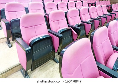 Empty hall for presentation with armchairs