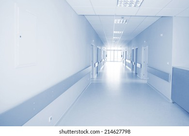 Empty hallway in the hospital