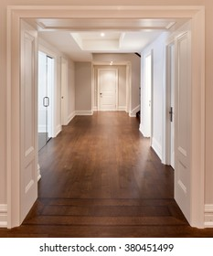 Empty hallway in luxurious house