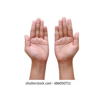 Empty Hands Isolated