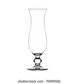 Empty harricane glass isolated on white.