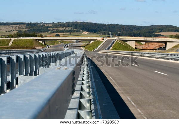 Empty highway in Bavaria, Germany