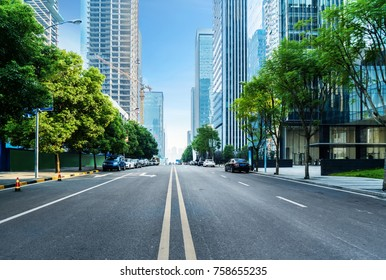 empty highway with cityscape of chongqing,China - Shutterstock ID 758655235