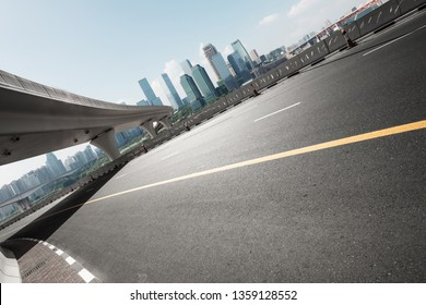 empty highway with skyline