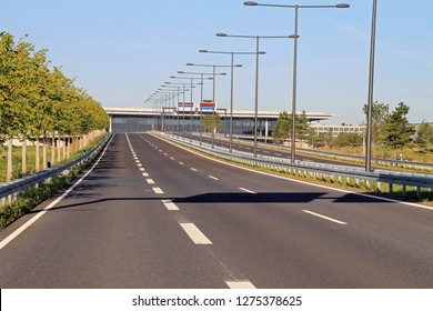 Empty highway without traffic