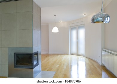 Empty home interior space