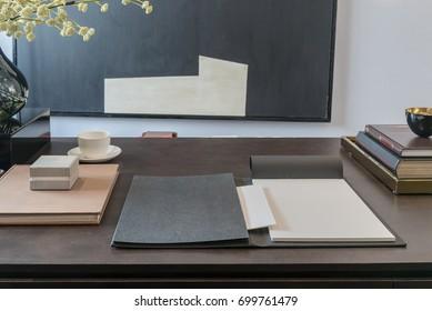empty home office, interior design concept