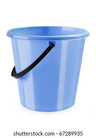 Empty housework equipment plastic bucket container