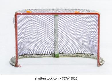 empty ice hockey net