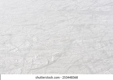 Empty Ice rink background on natural light