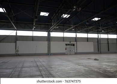 empty industrial shed