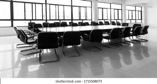 Empty interior of business conference room.