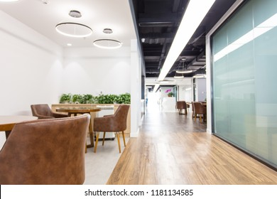Empty Interior Of Modern Design Office,Retro design rest area