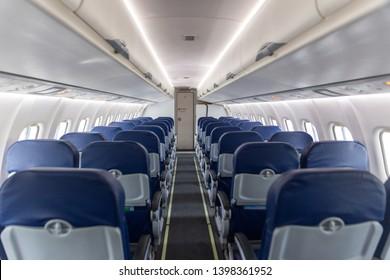 empty interior of the passenger aircraft