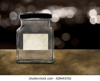 Empty jar, money pot. Many possible labels - pension, tips, school fees etc.
