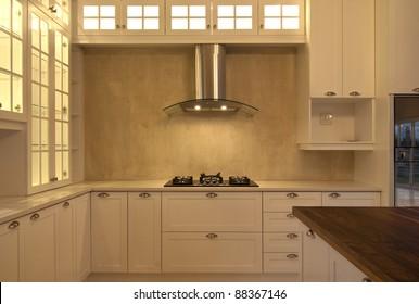 Empty kitchen inside a modern house