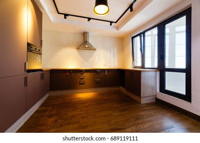 Empty Kitchen In Modern House