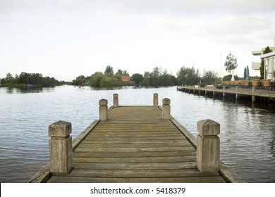 empty landing-stage for boats