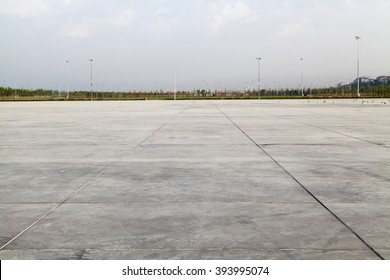 Empty Large Concrete Ground