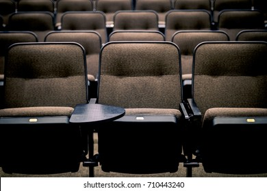 Empty Lecture Hall Seats