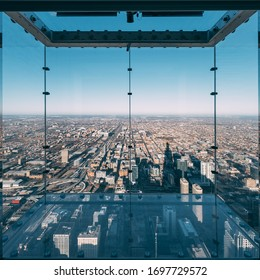 Empty Ledge at Skydeck Chicago, Chicago, IL 03/16/19