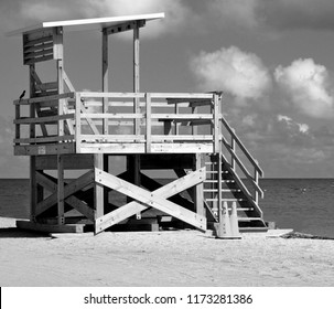 Empty lifeguard stand on the beach Florida, USA
