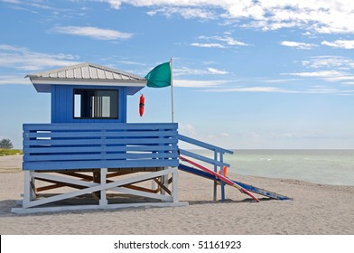 Empty Lifeguard Station on the Beach