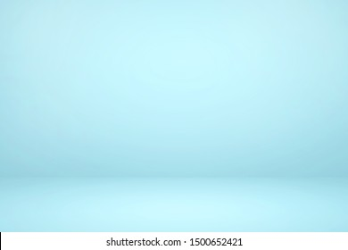 Empty light blue studio room with light and shadow abstract background. Copy space studio room for present your products.