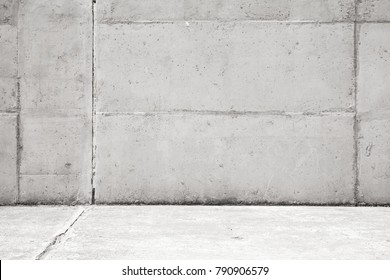Empty light gray concrete interior background, wall and floor