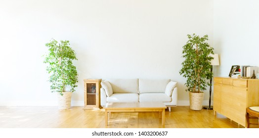 Empty living room concept. Interior of a house.