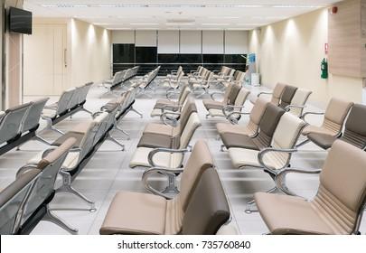 Empty lobby at hospital