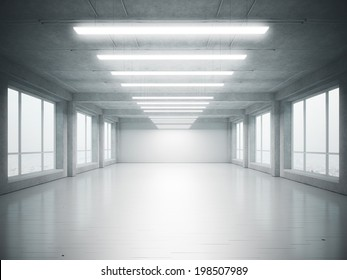 Empty loft interior