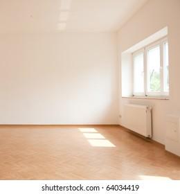 empty loft like living room