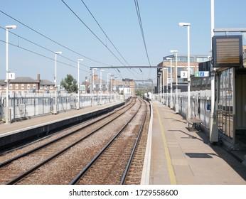 Empty London Overground Train Station, England