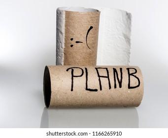 Empty loo paper