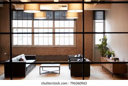 Empty lounge meeting room in luxury business premises